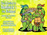 Ninja Turtle Birthday Invites Teenage Mutant Ninja Turtles Birthday Invitations Tmnt