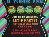 Ninja Turtle Birthday Invites Tmnt Birthday Invitations Template Resume Builder