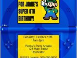 Nintendo Ds Birthday Party Invitations Diy Printable Video Game Birthday Party Invitation Video
