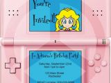 Nintendo Ds Birthday Party Invitations Princess Peach Nintendo Ds Party Invitation Pdf by Spongeshoe