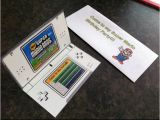 Nintendo Ds Birthday Party Invitations Super Mario Ds Birthday Invitation and Envelope My son