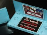 Nintendo Ds Birthday Party Invitations Video Games Birthday Party Ideas Ideas Video Game Party