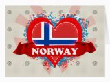 Norwegian Birthday Card Vintage I Love norway Greeting Card Zazzle