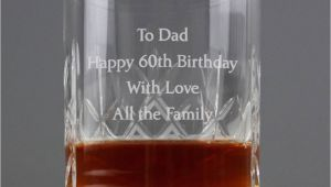 Not On the High Street 60th Birthday Gifts for Him Personalised Crystal Whisky Tumbler by Oli Zo