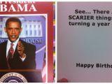 Obama Happy Birthday Card Duane Reade S Progressively More Scary Obama Birthday Cards