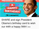 Obama Happy Birthday Card President Obama Happy Birthday Card