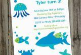 Ocean themed Birthday Invitations A Very Fishy Birthday Printable Aquarium Ocean Party