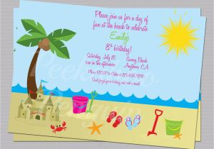 Ocean themed Birthday Invitations Ocean Birthday Invitations Best Party Ideas
