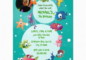 Ocean themed Birthday Invitations Ocean theme Children 39 S Birthday Party Invitation 4 25 Quot X 5