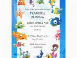 Ocean themed Birthday Invitations Ocean theme Children 39 S Birthday Party Invitation Zazzle