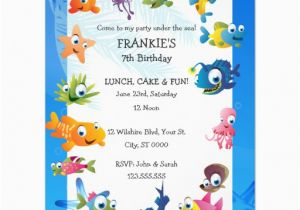 Ocean themed Birthday Invitations Ocean theme Children 39 S Birthday Party Invitation Zazzle