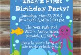 Ocean themed Birthday Invitations Ocean theme First Birthday Invitation 1st 2nd 3rd Birthday