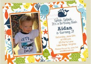 Ocean themed Birthday Invitations Under the Sea Birthday Invitations Sea Creature Birthday
