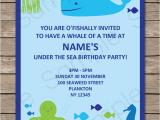 Ocean themed Birthday Invitations Under the Sea Party Invitations Birthday Party