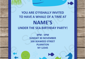 Ocean themed Birthday Invitations Under the Sea Party Invitations Birthday Party