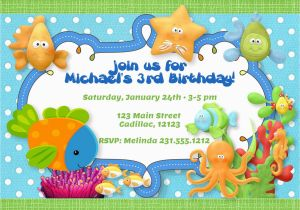Ocean themed Birthday Invitations Under the Sea theme Birthday Party Invitation Boys Under the