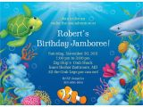 Ocean themed Birthday Party Invitations Ocean Party Personalized Invitation Each Cheap themed