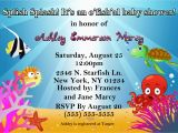 Ocean themed Birthday Party Invitations Ocean theme Baby Shower Invitations Kustom Kreations