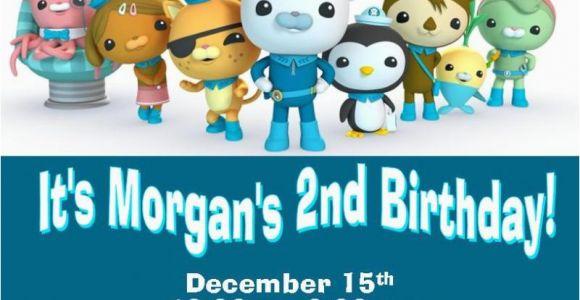 Octonauts Birthday Invites 12 Printed Octonauts Birthday Invitations by