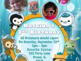 Octonauts Birthday Invites Octonauts Birthday Invitations