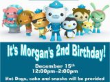 Octonauts Birthday Party Invitations 12 Printed Octonauts Birthday Invitations by