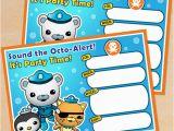 Octonauts Birthday Party Invitations Free Printable Octonauts Birthday Invitation