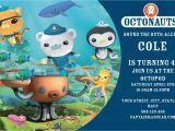 Octonauts Birthday Party Invitations Octonauts Party Invitations Cimvitation