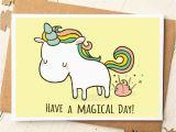 Odd Birthday Cards Unicorn Card Funny Birthday Card Unicorn Birthday Card