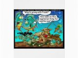 Offbeat Birthday Cards Vegan Pirahanas Funny Offbeat Cartoon Gifts Greeting Card