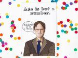 Office Birthday Card the Office Birthday Card Dwight Schrute Michael Scott Jim
