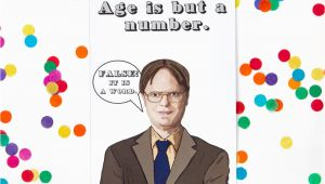 Office Birthday Card the Office Birthday Card Dwight Schrute Michael Scott Jim