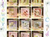 Office Birthday Cards Bulk Free Shipping wholesale Real Flowers Greeting Cards