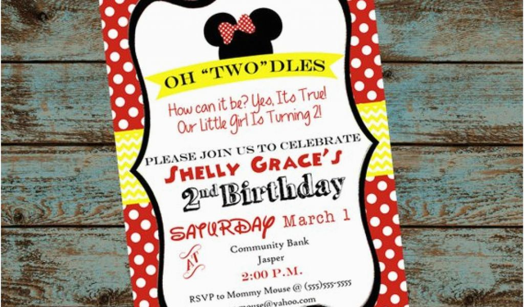 Oh Toodles Birthday Invitations Oh Toodles Minnie Mouse 2nd Birthday