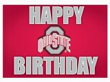 Ohio State Birthday Card Ohio State Buckeyes Happy Birthday Card 21230278