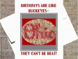 Ohio State Birthday Card Ohio State Card Buckeye Card Funny Birthday Card Osu
