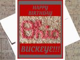 Ohio State Birthday Card Ohio State Card Funny Birthday Card Buckeye Card Osu Card