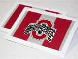 Ohio State Birthday Card Ohio State University Buckeyes Scarlet Gray Greeting Cards