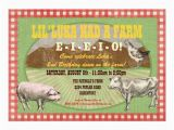 Old Macdonald Had A Farm Birthday Invitations Farm Party Invitation Old Macdonald Had A Farm Zazzle