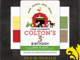 Old Macdonald Had A Farm Birthday Invitations Nealon Design Old Macdonald Farm Birthday Invitation