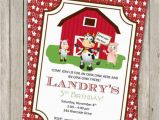 Old Macdonald Had A Farm Birthday Invitations Old Macdonald Birthday Invitation Farm Birthday Invite Pig