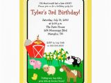 Old Macdonald Had A Farm Birthday Invitations Old Macdonald Farm Eieio 5×7 Birthday Invitation 5 Quot X 7