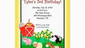 Old Macdonald Had A Farm Birthday Invitations Old Macdonald Farm Eieio 5×7 Birthday Invitation 5 Quot X 7