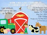 Old Macdonald Had A Farm Birthday Invitations Old Macdonald Had A Farm Birthday Party Ideas Photo 3 Of