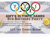 Olympic Birthday Party Invitations Dobber Blog 3 Amy 39 S 9th Birthday Party Olympics