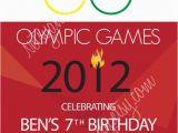 Olympic Birthday Party Invitations Olympic Birthday Invitation by Netsyandcompany On Etsy