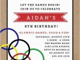 Olympic Birthday Party Invitations Olympic Birthday Party Invitation Sports Invitations