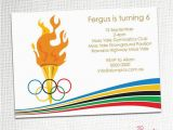 Olympic Birthday Party Invitations Olympic Party Invitation Awesome Graphics and Birthday