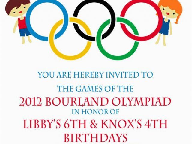 Olympic Birthday Party Invitations Olympic Party Invitation Olympics