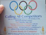Olympic Birthday Party Invitations Olympic themed Birthday Party Pinterest Addict