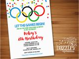 Olympic Birthday Party Invitations Printable Kids Olympic Games Birthday Invitation Free